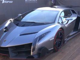 Video: $4 Million Lamborghini Veneno at Blancpain Super Trofeo Series in Monza
