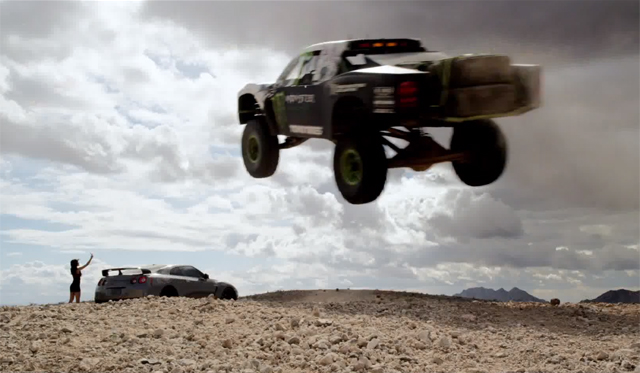 Video: Monster Energy Drives Nissan GT-R and 850hp Truck