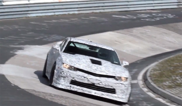 Video: 2014 Chevrolet Camaro Z/28 Filmed Testing at Nordschleife