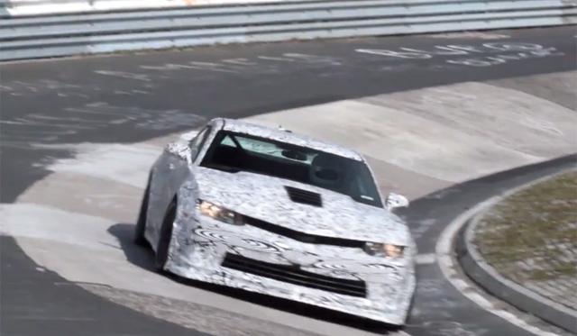 Video: 2014 Chevrolet Camaro Z/28 Filmed Testing at Nordschleife