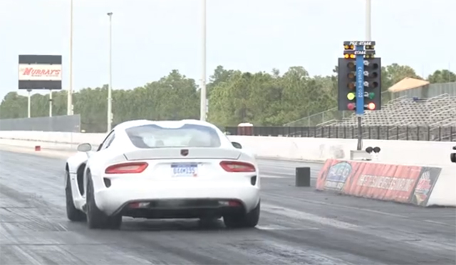 Video: 2013 SRT Viper Runs 11.1 Second Quarter Mile