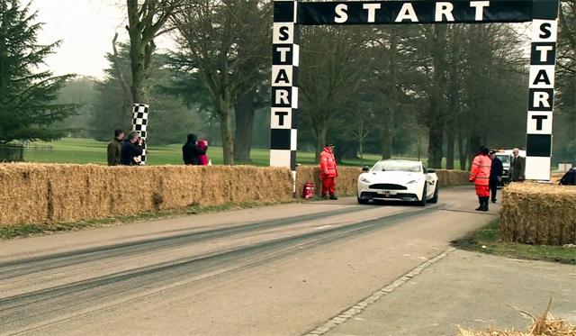 Video: Lord March Drives Aston Martin Vanquish up Goodwood Hillclimb