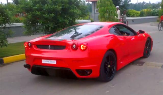 Video: Young Indian Child Cruising in Ferrari F430