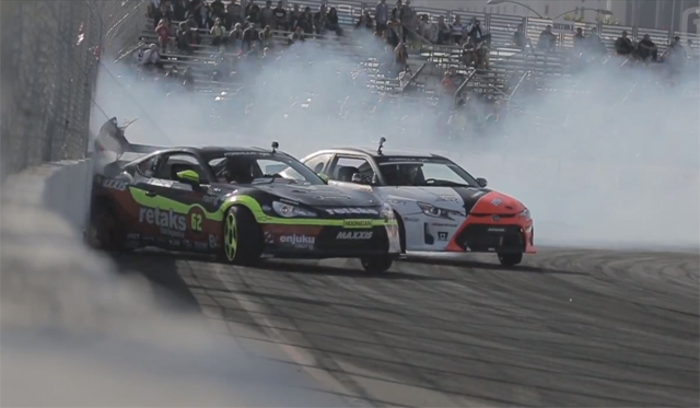 Video: Ryan Tuerck Crashes Scion FRS Formula Drift Long Beach