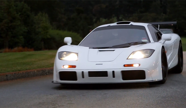 Video: White McLaren F1 Revving and Cruising