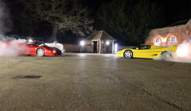 Video: Two Ferrari F50's Showdown WRC Style