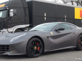 Video: Matte Grey Ferrari F12 Berlinetta Racing at Monza