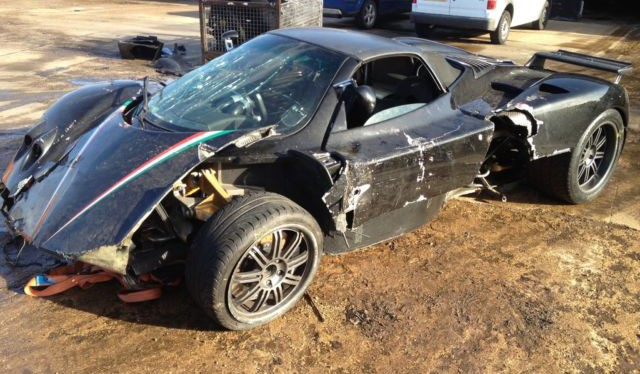 Crashed Cars For Sale >> For Sale Wrecked Pagani Zonda Roadster Gtspirit