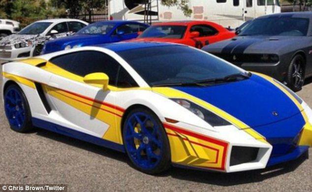 Chris Browns Lamborghini Gallardo