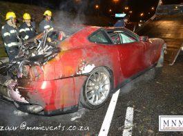 Car Crash: Ferrari 612 Scaglietti Ignites in Cape Town