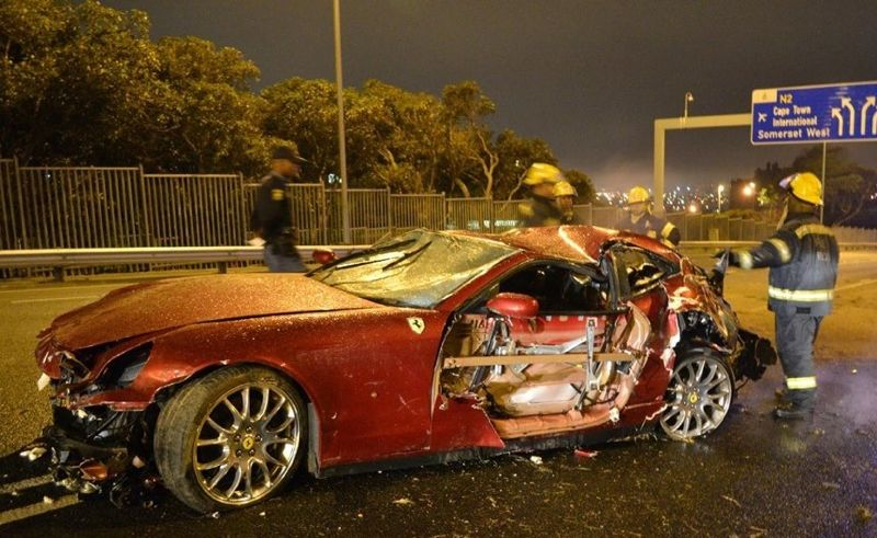 Crashed Cars Before And After Car Crash Ferrari 612