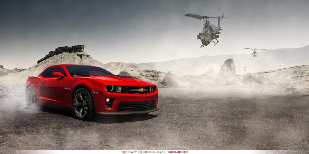 Photo Of The Day: 2013 Chevrolet Camaro ZL1 'Chased by Helicopters'