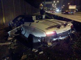 Car Crash: Lamborghini Gallardo LP570-4 Performante Destroyed in East London