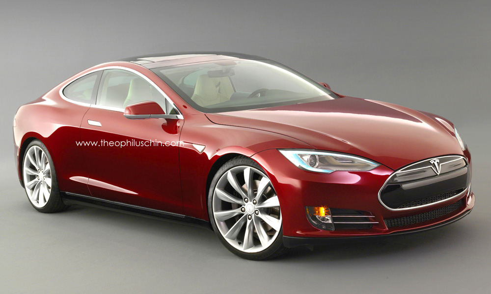Render Tesla Model S Coupe By Theophilus Chin Gtspirit
