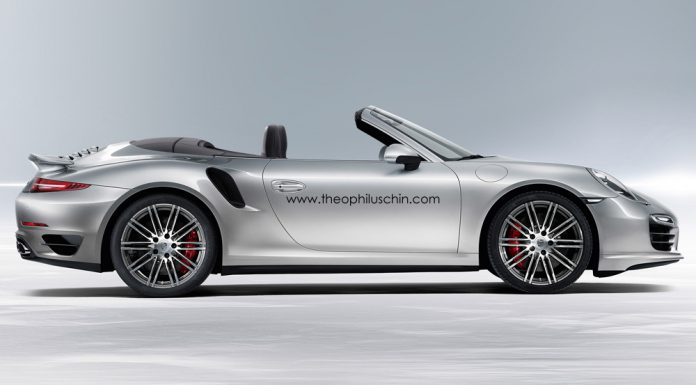 Render: 2014 Porsche 911 Turbo Cabriolet by Theophilus Chin