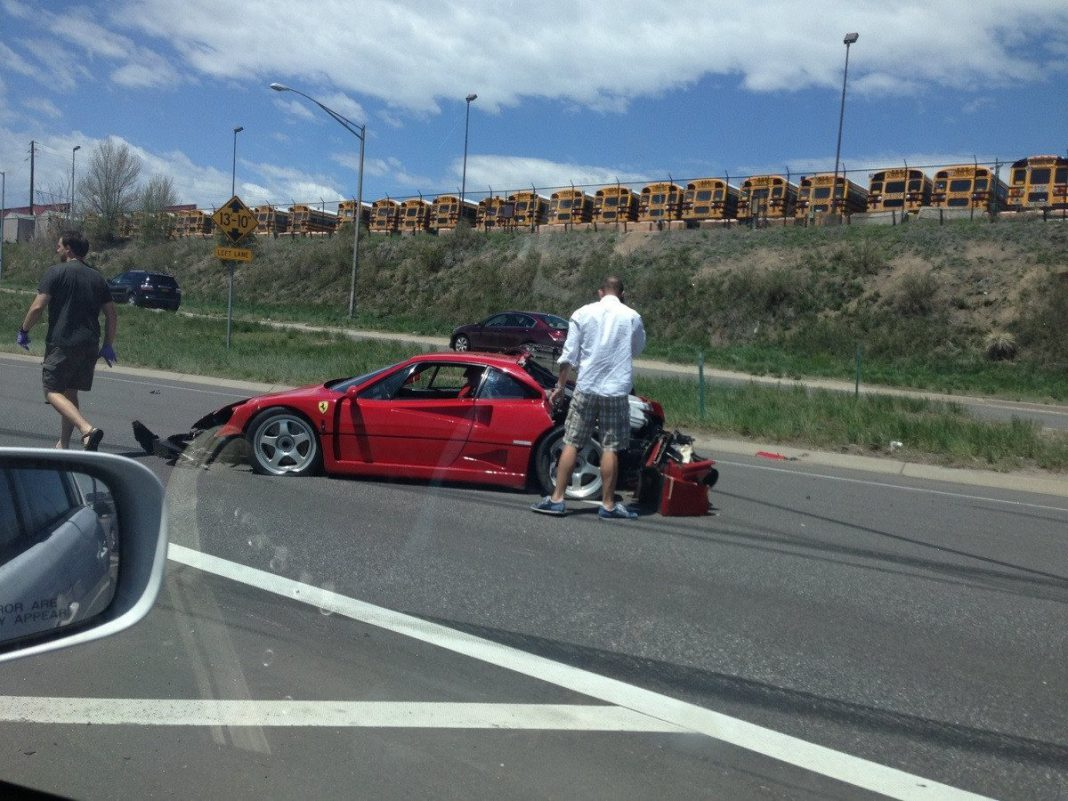 Ferrari F40 Wrecked in Denver