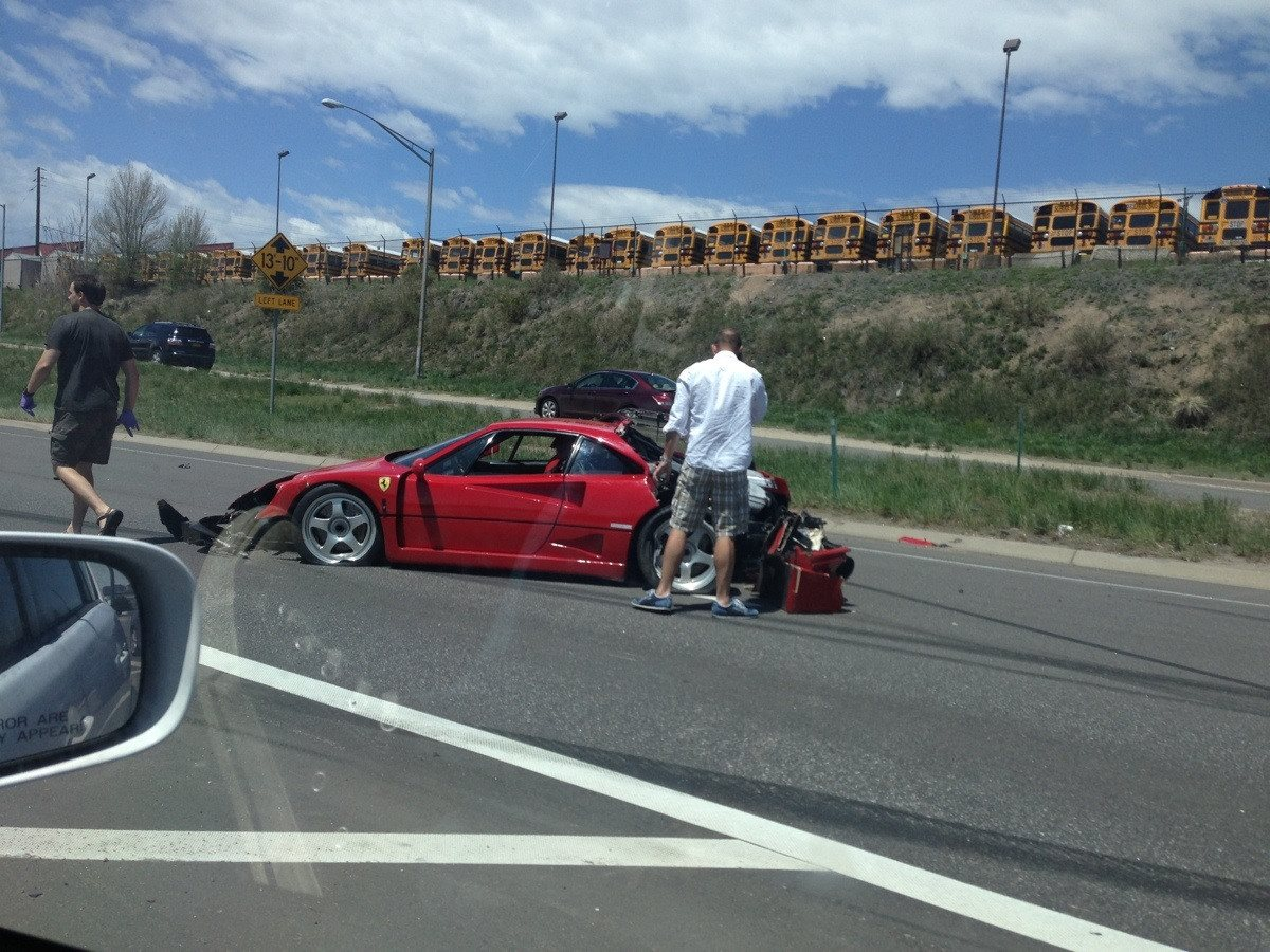 Car Crash  Ferrari F40 Wrecked in DenverRichard Rawlings F40