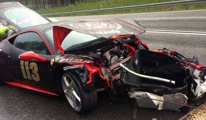Ferrari 458 Italia Crashes on Gumball 3000