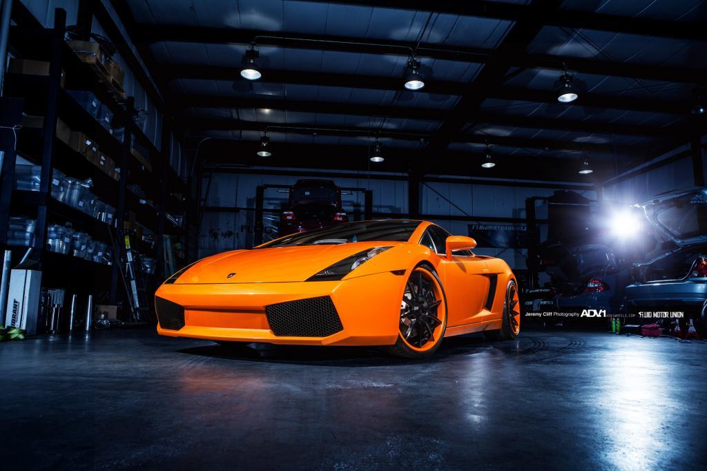 Gallery: Lamborghini Gallardo on Orange ADV.1 Wheels