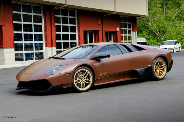 Matte Brown Lamborghini Murcielago SV