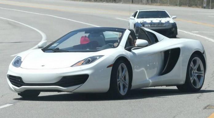 Lady Gaga Spotted in White McLaren 12C Spyder