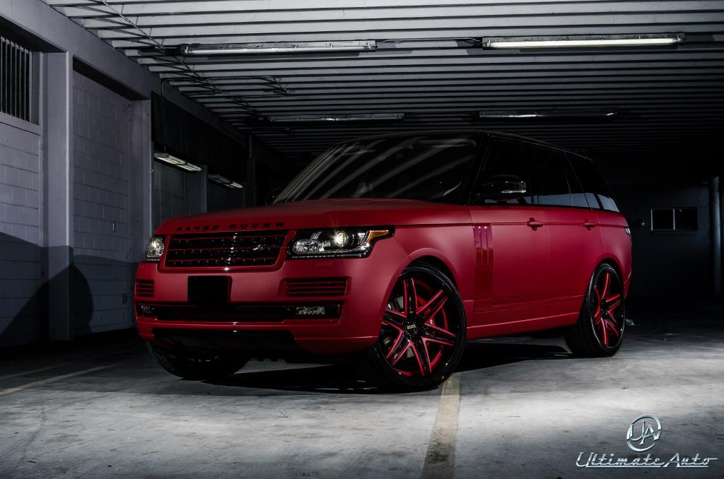 Matte red range rover celebrity auto edition by ultimate Celebrity motors