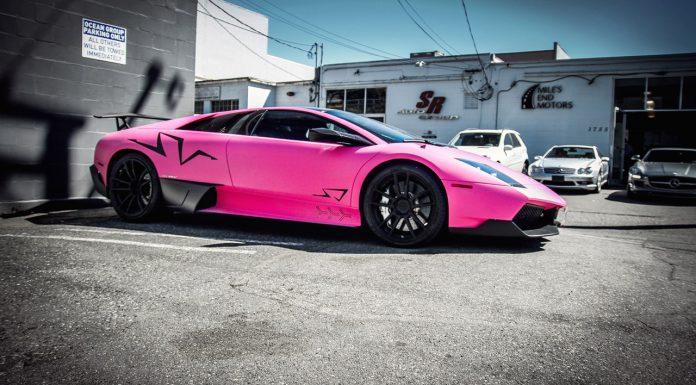Pink Lamborghini Murcielago SV