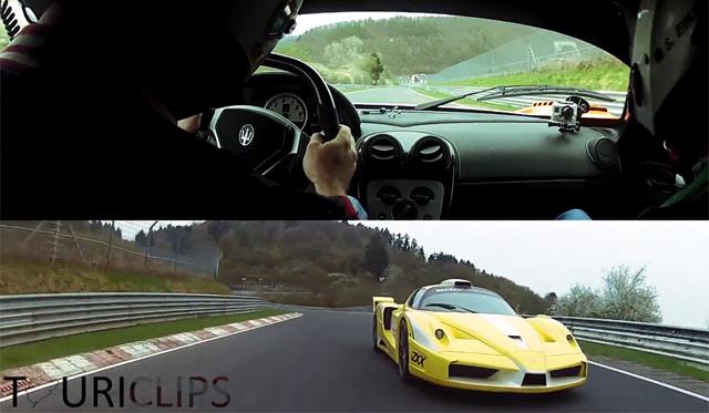 Video: Maserati MC12 Corsa by Edo vs Ferrari Enzo ZXX by Edo on the 'Ring