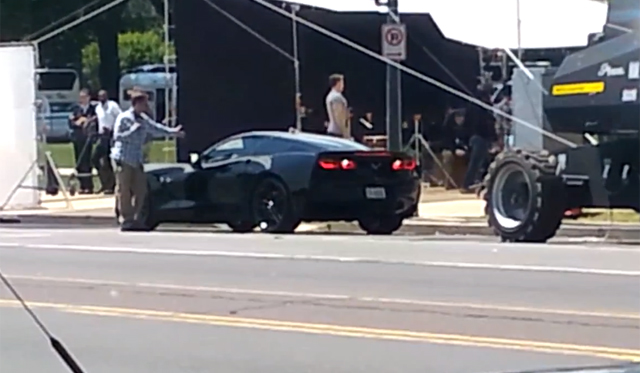 Video: 2014 Chevrolet Corvette Stingray Filmed on set at new Captain America Film