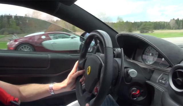 Video: Bugatti Veyron vs Ferrari 599 GTO