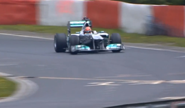 Video: Michael Schumacher Driving F1 car on the 'Ring