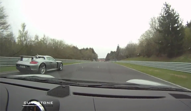 Video: Porsche 911 GT2 RS Chases Porsche Carrera GT on the 'Ring