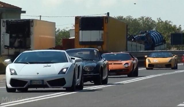 Video: The Sights and Sounds of Lamborghini's 50th Anniversary Grande Giro