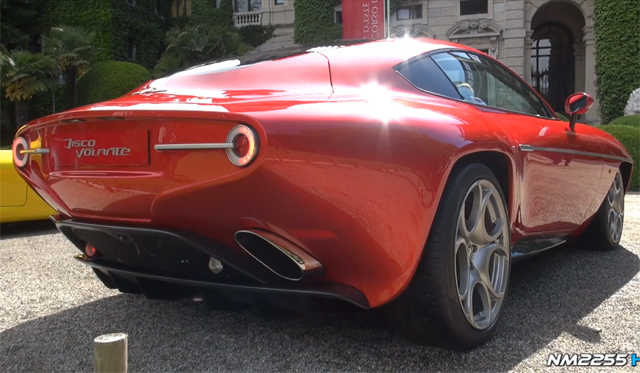 Video: Touring Superleggera Disco Volante Revving at Villa d'Este 2013