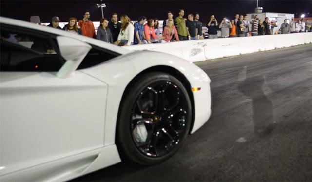 Video: Lamborghini Aventador vs 724hp McLaren 12C