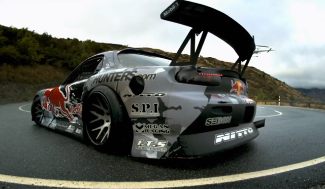 Video: Mad Mike Drifts New Zealand's Crown Range in 750hp Mazda RX-7