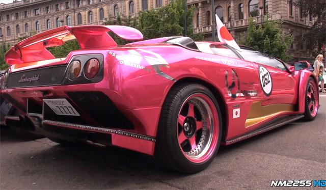 Video: Pink Lamborghini Diablo GT With Powercraft Exhaust
