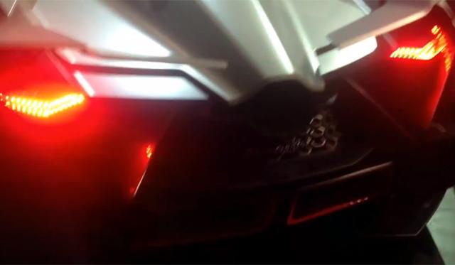 Video: Lamborghini Egoista Revs on Stage