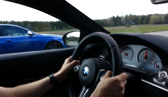 Video: 700hp Manhart Racing BMW M6 Coupe vs 743hp MTM Audi RS6