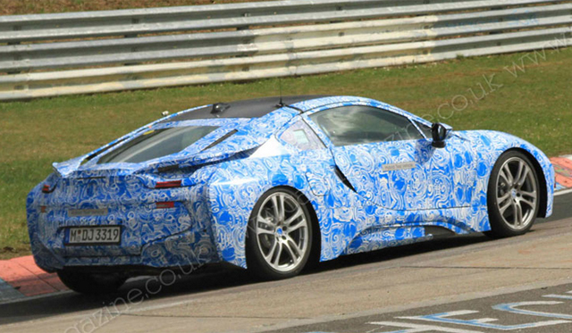 Spyshots: 2014 BMW i8 Supercar Snapped at the 'Ring Again
