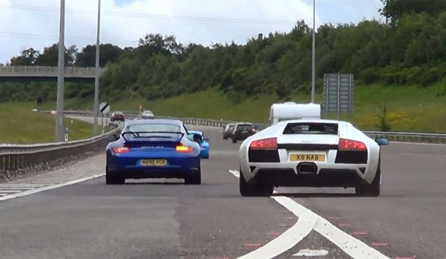 Video: Watch 50 Incredible Supercars Entering a Highway