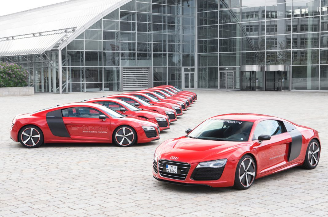 Audi Confirms 10 Audi R8 e-Trons Being Used for Development