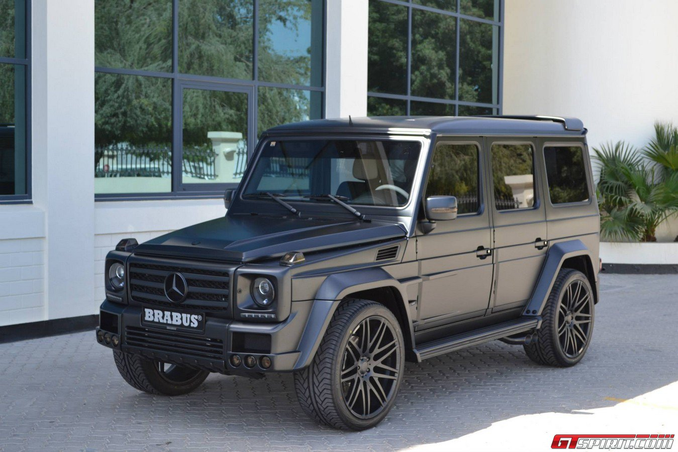 Gallery Matte Black Brabus Widestar G55 Amg In Saudi Arabia Gtspirit
