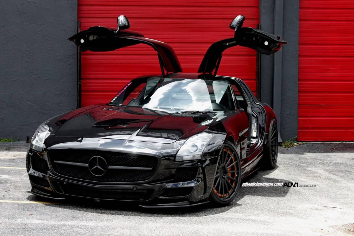Black Mercedes Benz Sls Amg By Wheels Boutique Gtspirit