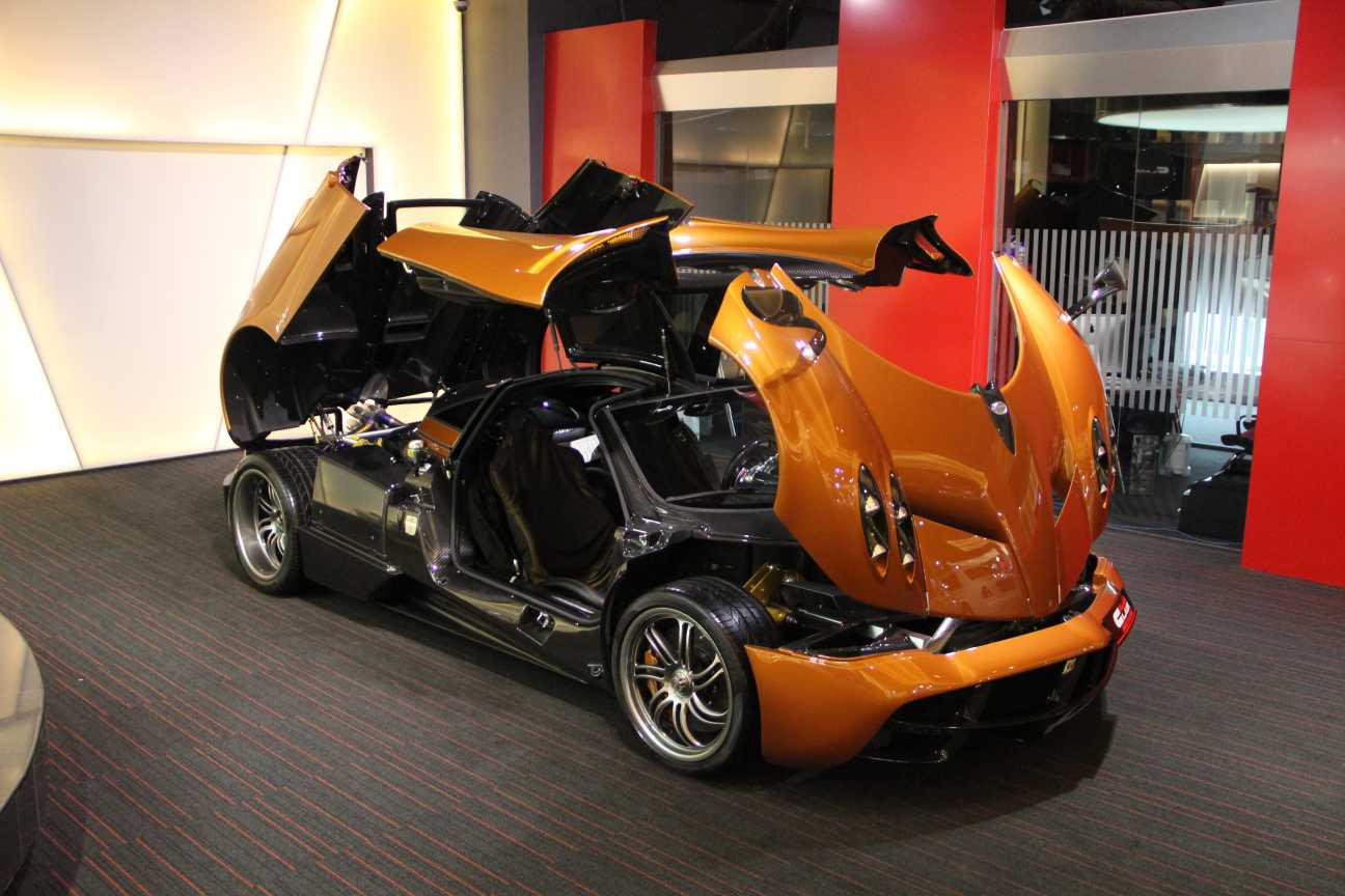 For Sale Orange Pagani Huayra in Dubai  GTspirit