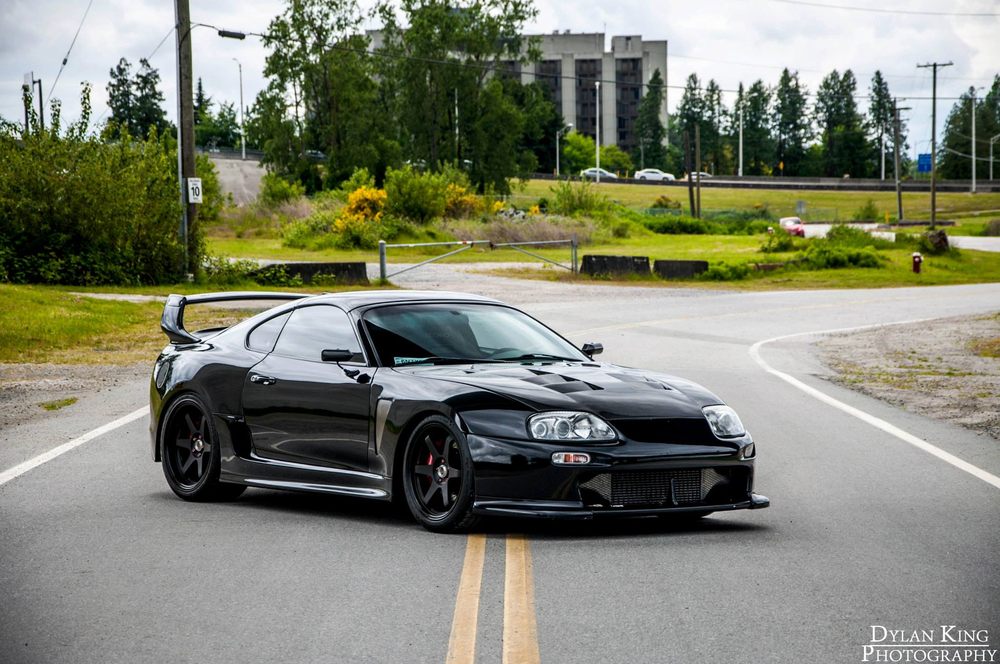 Black Toyota Supra