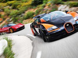 Video: Evo Drives Bugatti Veyron Grand Sport Vitesse WRC and Pagani Huayra