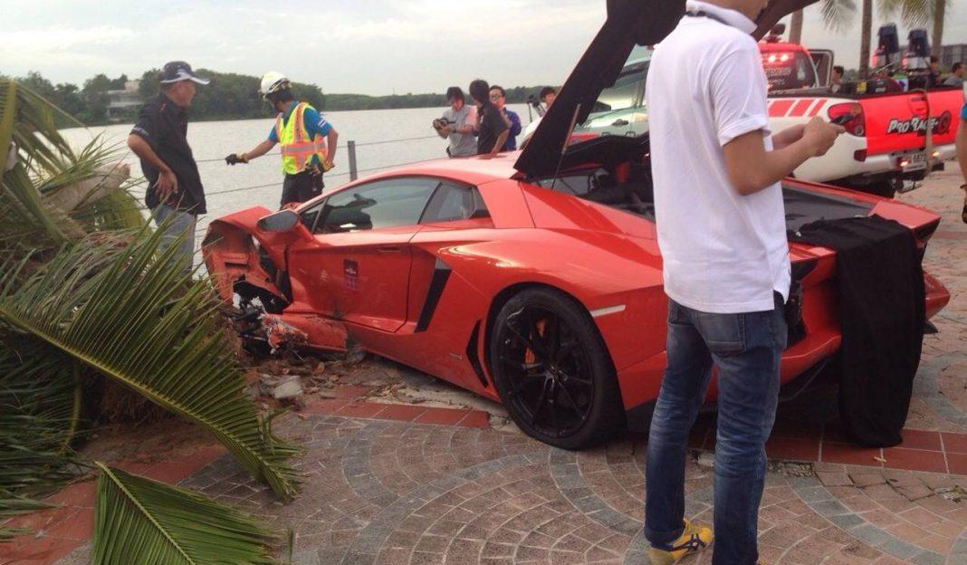 Lamborghini Aventador Crash in Thailand