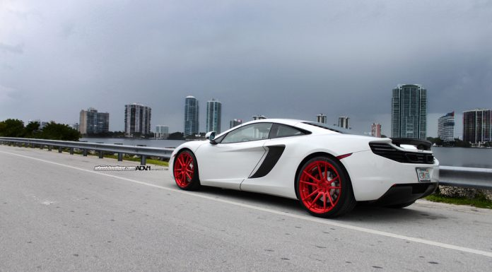 Gallery: McLaren 12C on red ADV.1 Wheels
