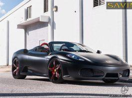 Matte Black Ferrari F430 on Savini Wheels by Ultimate Auto